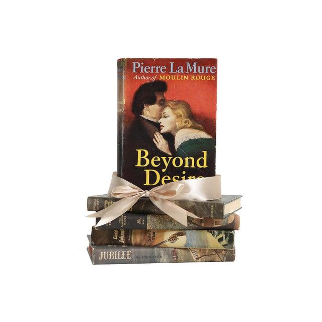 Midcentury Book Gift Set: Dustjacket Novels, S/5. Five vintage books featuring romantic novels each housed in original...