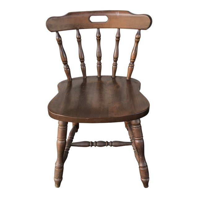 1950s Traditional Bistro Western Yugoslavia Windsor Chair For Sale