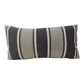 Antique French Stripes Bolster Decorative Pillow For Sale