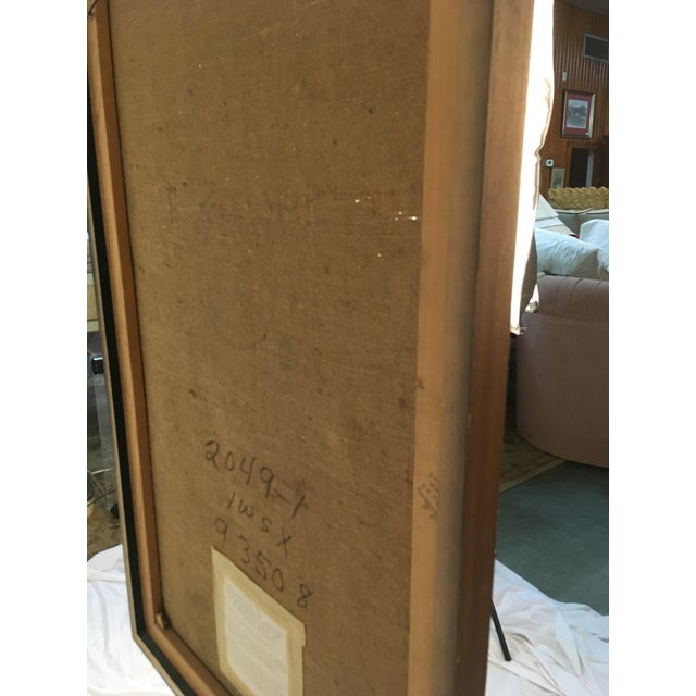 1960s Large Spanish Abstract Expressionist Painting by Angelo Segredo For Sale - Image 5 of 9
