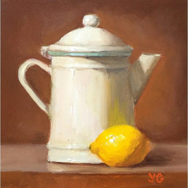 Origninal Pitcher & Lemon Still Life Oil Painting - Image 1 of 2