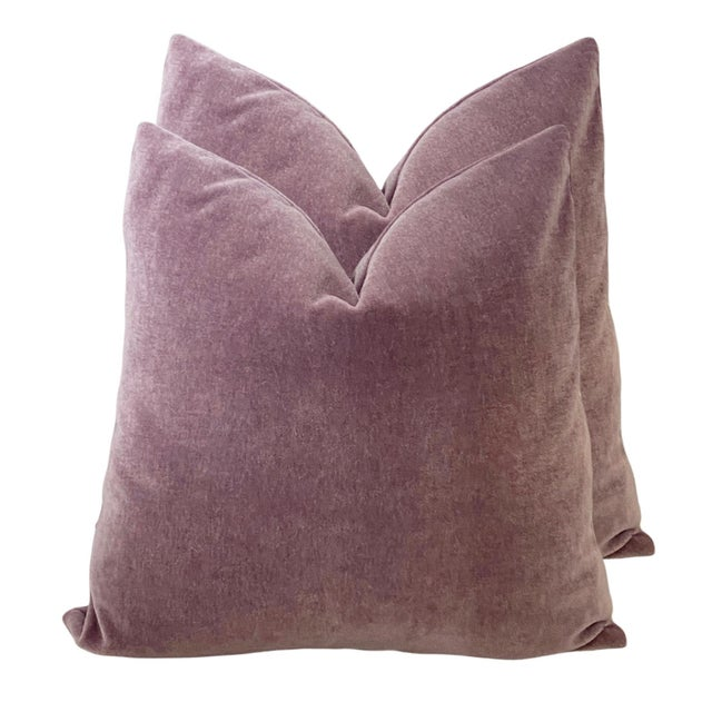 """Amethyst Mohair 18"""" Pillows - a Pair For Sale - Image 6 of 6"""