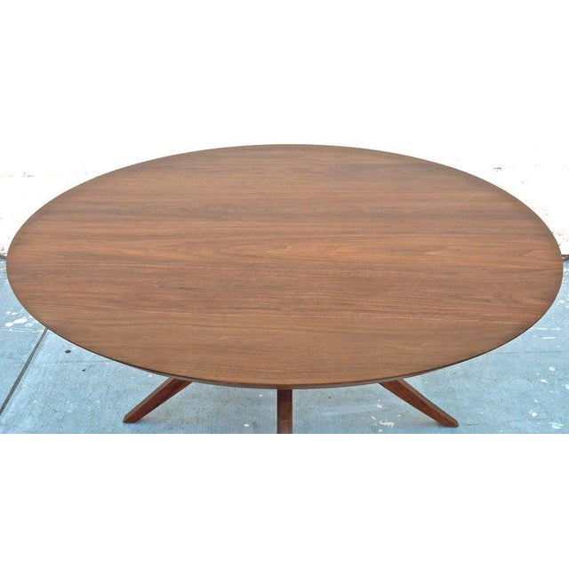 Wood 'Sputnik' Dining Table in Solid Walnut, Built to Order by Petersen Antiques For Sale - Image 7 of 11