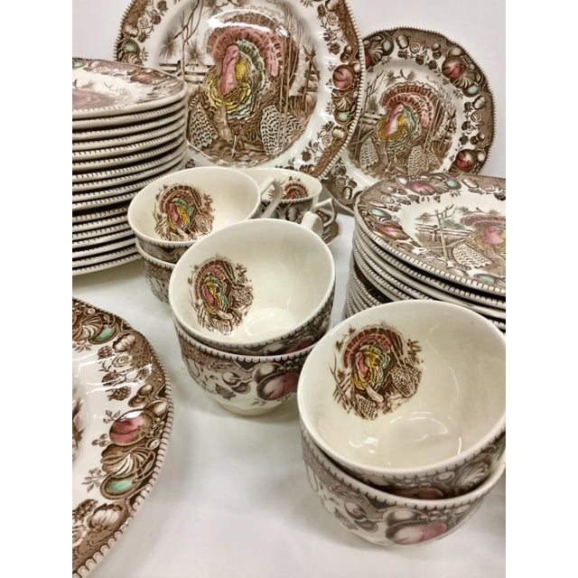 Johnson Bros His Majesty Turkey Dinnerware - Set of 71 For Sale In Boston - Image 6 of 13