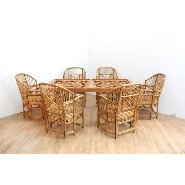 Hand Caned Brighton Pavilion Dining Chairs- Chinese Chippendale Fretwork - Set of 6 For Sale In San Francisco - Image 6 of 8