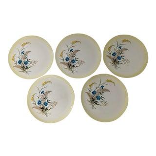 Mid-Century Taylor Smith Versatile Floral Porcelain Dinner S-8 For Sale
