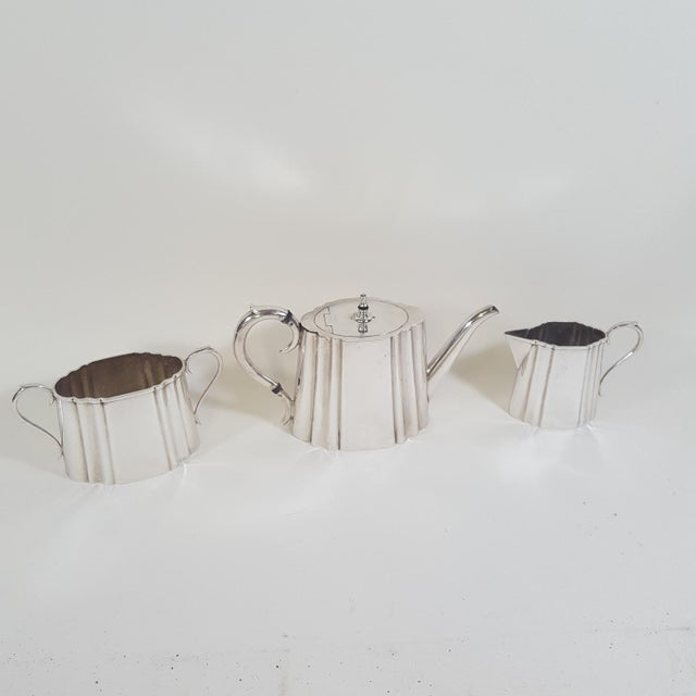 Metal 19th Century Traditional Thomas Wilkinson and Sons Silverplate Tea Set - 3 Pieces For Sale - Image 7 of 7