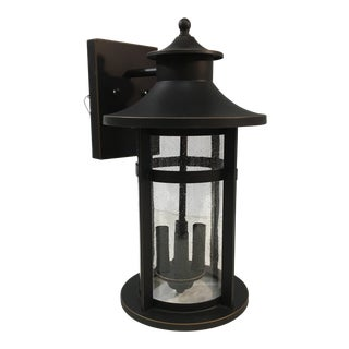 Minka Lavery Seedy Glass Four Light Outdoor Wall Light For Sale