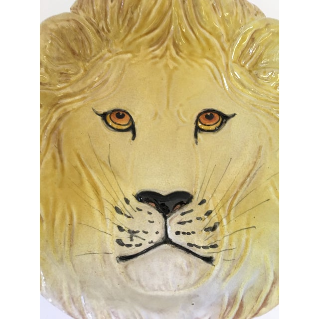 Black Larger- Italian Mid-Century Modern Golden Lion Bowl For Sale - Image 8 of 13