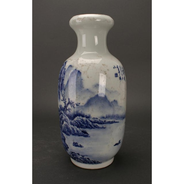 Chinese Blue & White Rousseau Vases - A Pair For Sale - Image 9 of 11