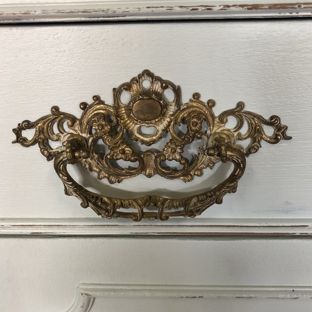 Metal Vintage Federal Style China Cabinet For Sale - Image 7 of 11