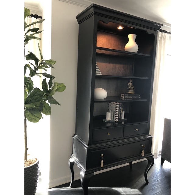 2010s Cynthia Rowley Black Twin Peak Display Cabinet For Sale - Image 5 of 11