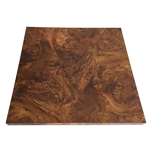 Burl and Brass Accent Table - Image 5 of 5