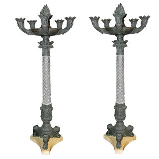 Pair of French Candelabrum For Sale