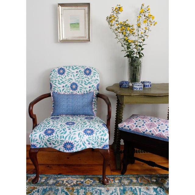 Transitional Ferran Ming Fret Fabric, Sample, Ecru in Belgian Linen For Sale - Image 3 of 5