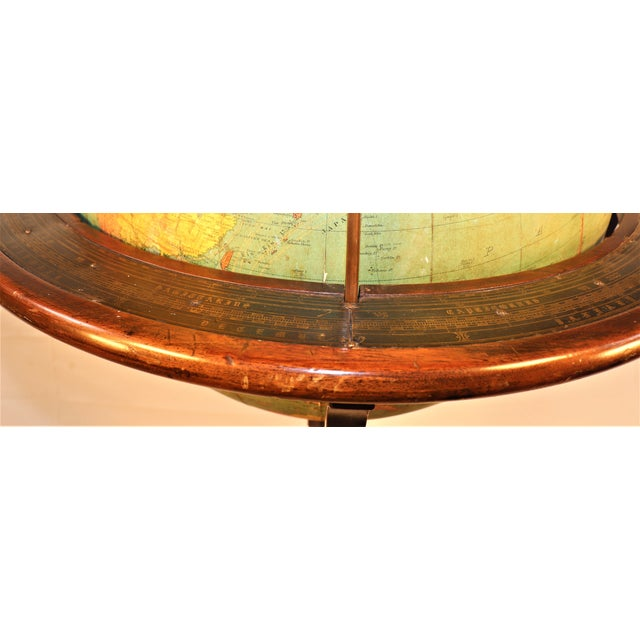 Traditional Early 1900's Williams-Pridham Index Globe For Sale - Image 3 of 12