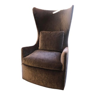 Modern Milo Baughman Feelin Groovy Swivel Chair For Sale