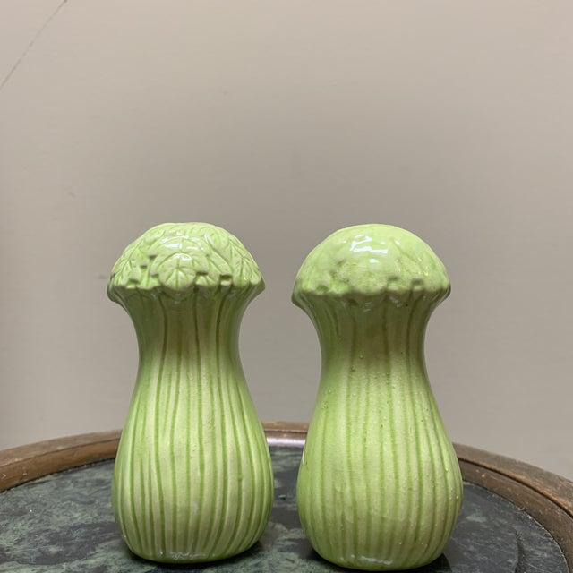 Mid-Century Bok Choy Cabbage Salt and Pepper Shakers For Sale - Image 10 of 10