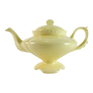 1950s Boho Chic Loma Genie Yellow Ceramic Tea Pot For Sale