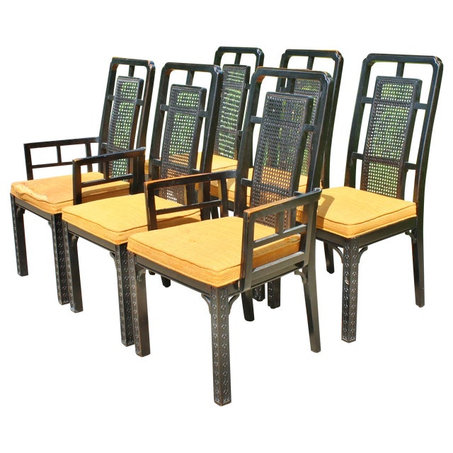 Vintage Chinese Chippendale Chairs - Set of 6 - Image 1 of 9