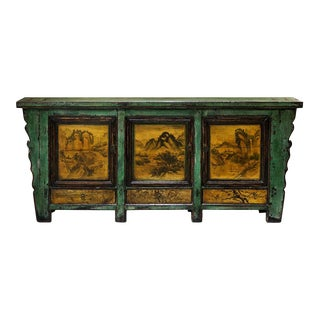 Chinese Altar Style Elm Wood Sideboard For Sale
