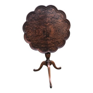 Tilt Top Pie Crust Tray Table