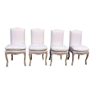 French Regency Style Antique Chairs - Set of 4 For Sale