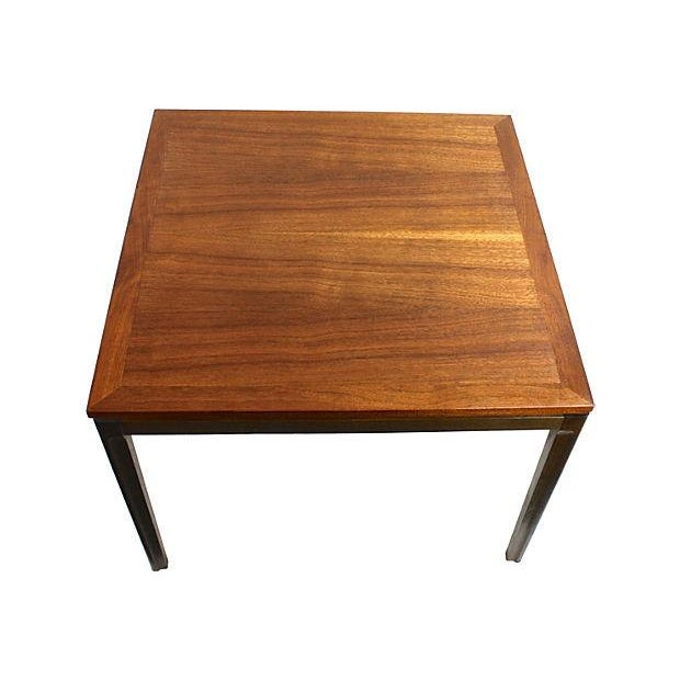 Mid-Century Danish Modern Two-Tone Teak End Table - Image 3 of 5