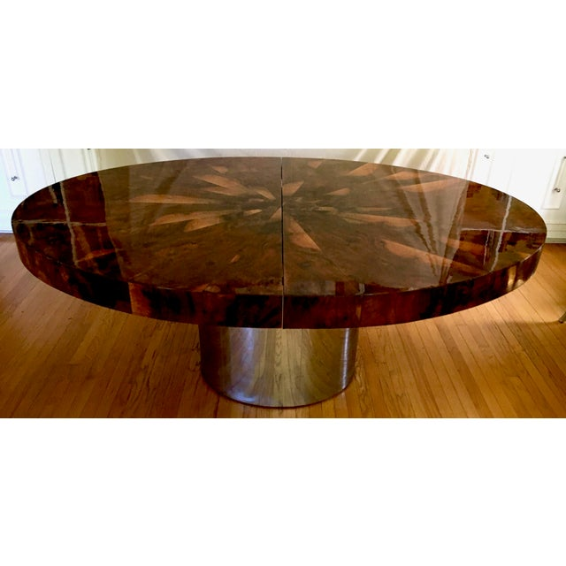 Paul Evans Race Track Burl Wood Oval Dining Table - Image 5 of 6