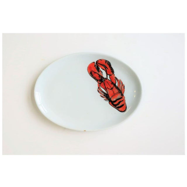 Mid 20th Century Vintage Designer Italian Lobster Plates With Forks From Sweden - Set of 6 For Sale - Image 5 of 13