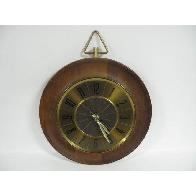 1960s Mid Century Modern Elgin Wall Clock For Sale - Image 4 of 11