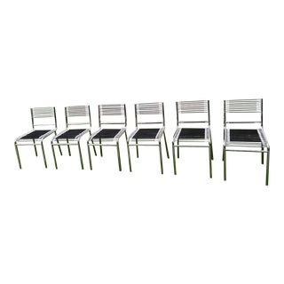 Vintage Rene Herbst Sandows Chairs - Set of 6 For Sale