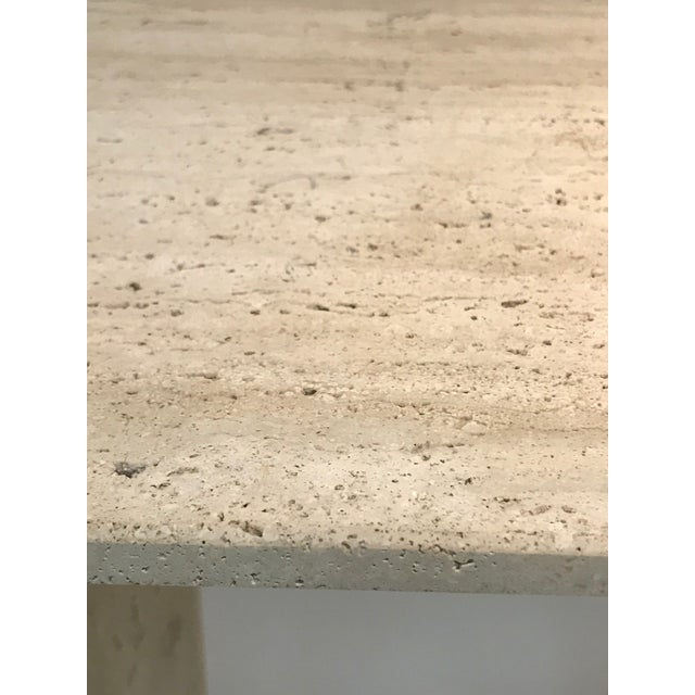 Tan Fabulous Italian Travertine Accent Table or Side Table For Sale - Image 8 of 10