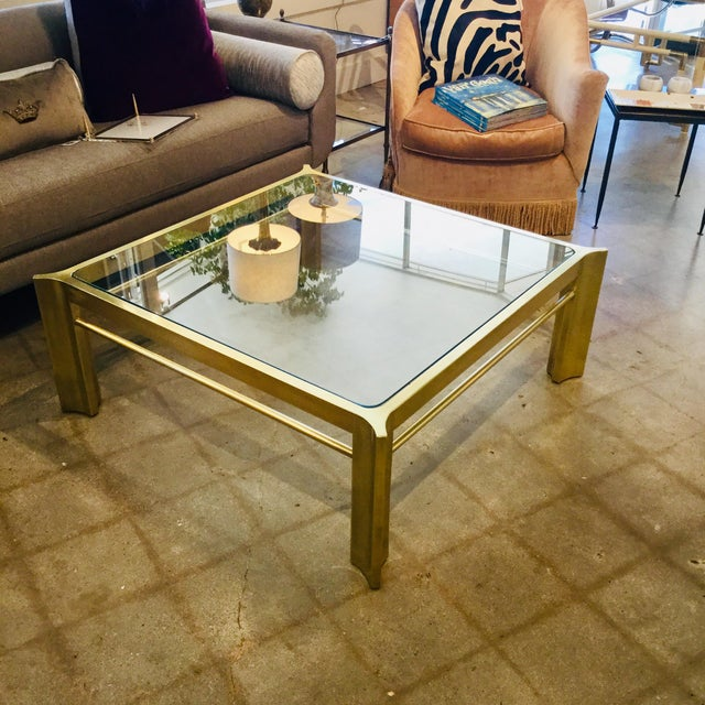 Mid 20th Century Mid-Century Modern Square Mastercraft Coffee Table For Sale - Image 5 of 7