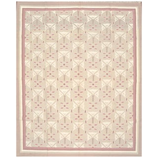 Indian Dhurrie Rug - 8'2'' X 10' For Sale