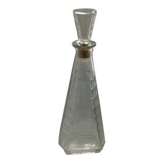 Triangle Shaped Pressed Glass Decanter For Sale