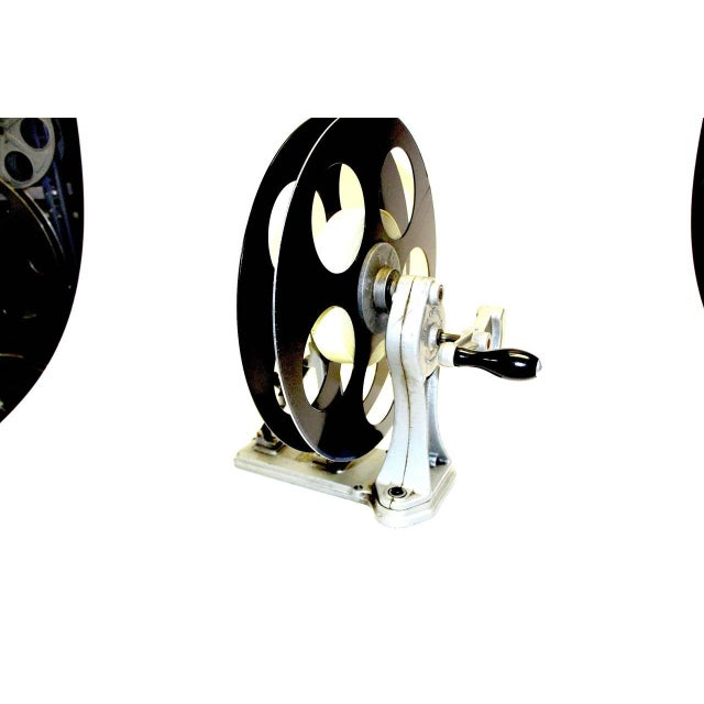 1930s Vintage Motion Picture Film Laboratory Flange Rewinder. Circa 1930s. Display As Sculpture. For Sale - Image 5 of 7