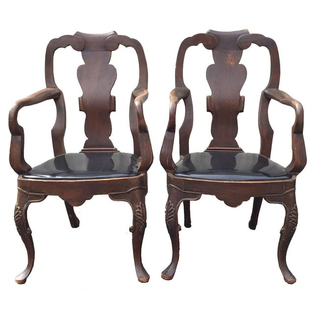 20th Century Chippendale Dining Yoke Chairs - a Pair For Sale - Image 13 of 13