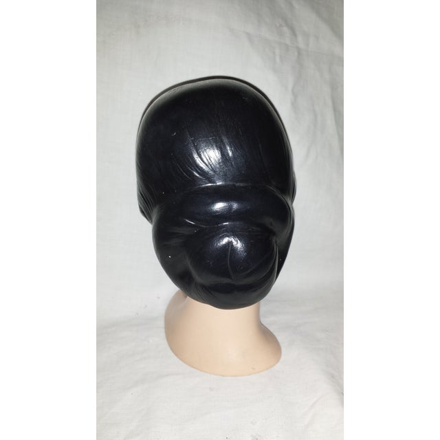 Vintage Chalkware Lady Head Bust For Sale - Image 5 of 7