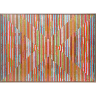 "Dan Teis ""Candy Stripes X"" Painting"