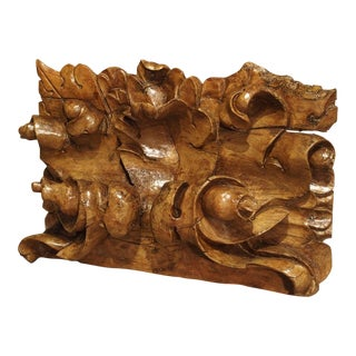 Early 18th Century Regence Carved Overdoor Fragment from France For Sale