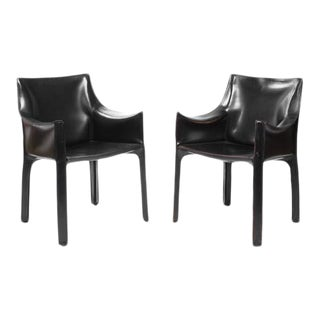 Vintage Black Cassina Chairs - a Pair For Sale