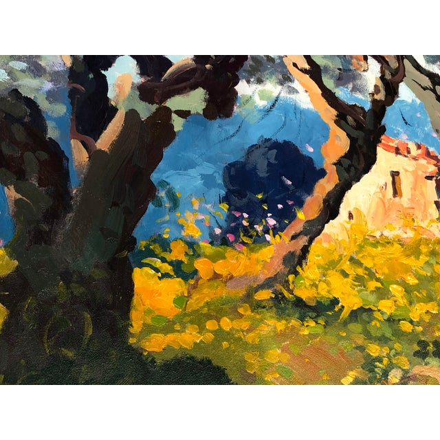 2020s Contemporary Tuscan Hand Scrape Painting For Sale - Image 5 of 8
