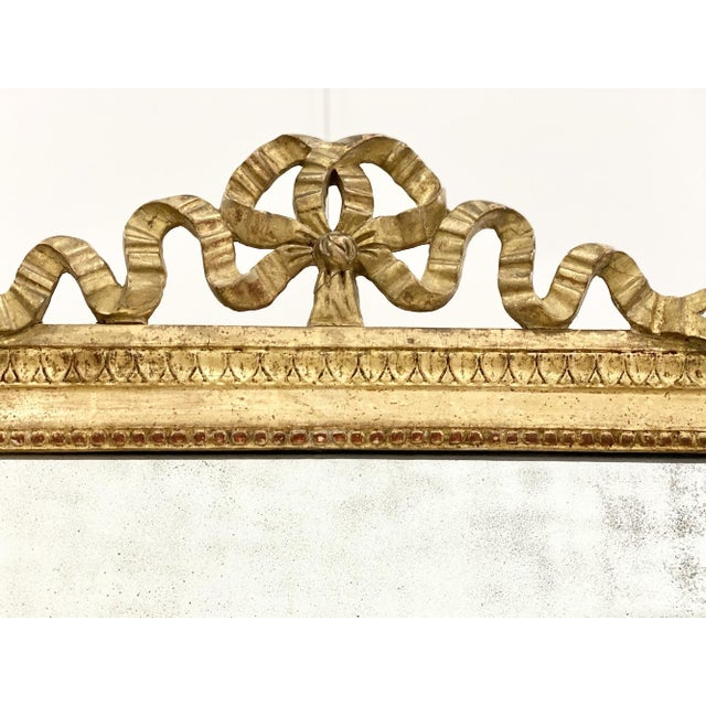 18th C. Ribbon Crest Mirror For Sale - Image 4 of 8