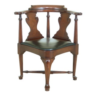 Drexel Queen Anne Mahogany Corner Chair For Sale