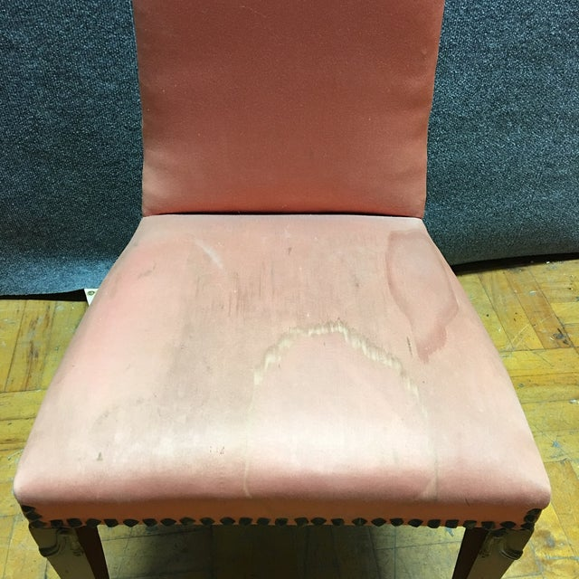 Antique Orange High Back Chairs - A Pair - Image 5 of 7