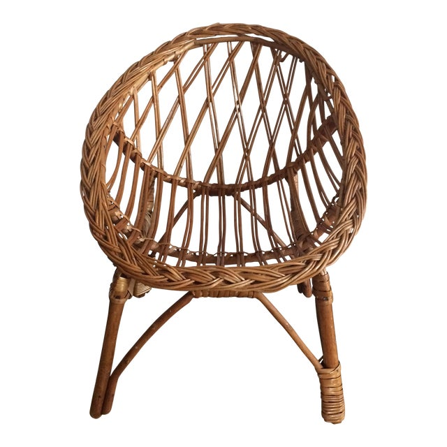 Vintage Child's Wicker Chair - Image 1 of 6