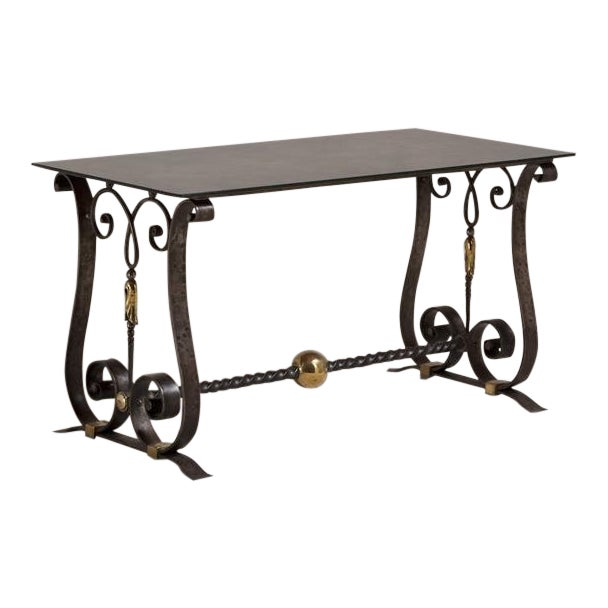 A Cast Iron Table in the Manner of Piquet circa 1925 For Sale