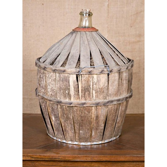 Brown Antique French Demijohn or Bonbonne For Sale - Image 8 of 8
