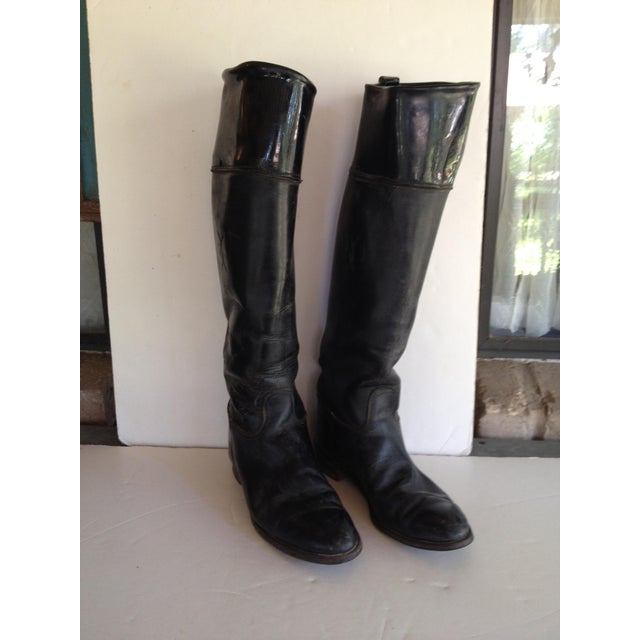 Black Leather Equestrian Boots - Image 5 of 5